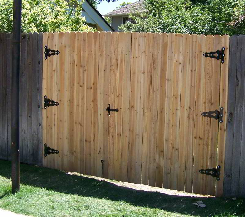 Image of: New How To Build A Fence Gate