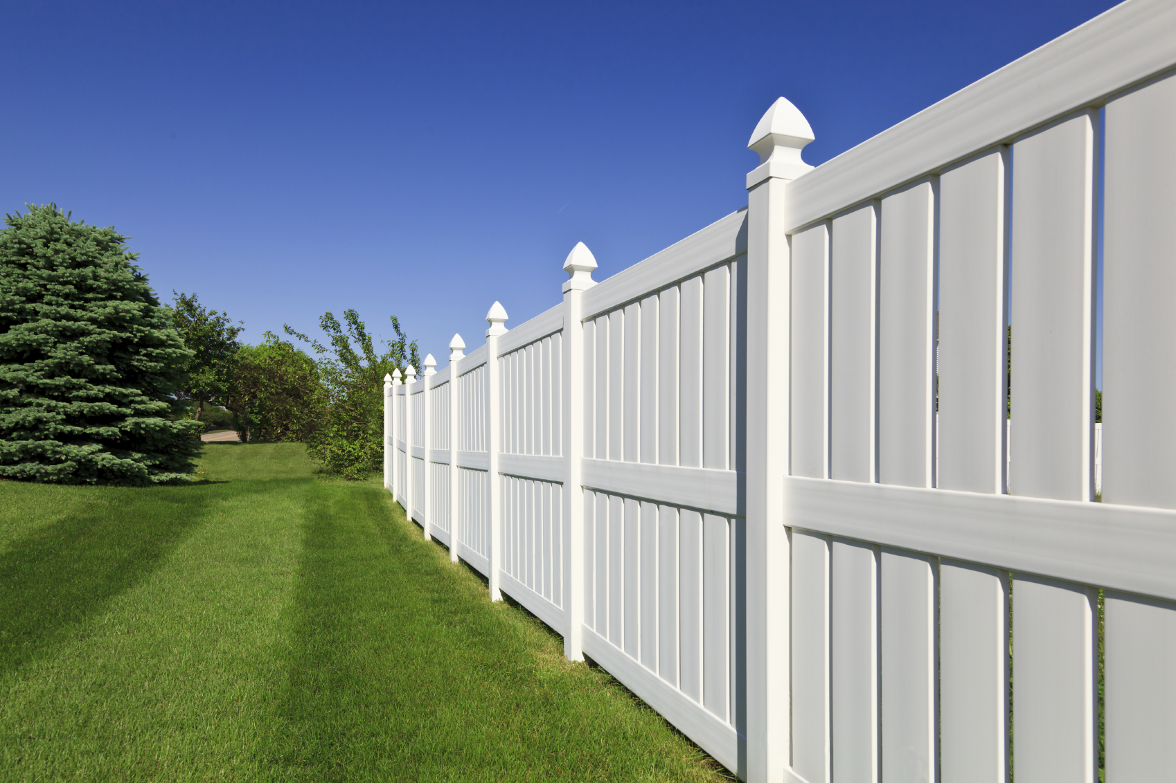 Image of: New Plastic Fence