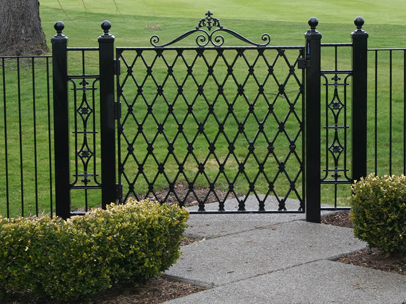 Image of: Nice Metal Fences