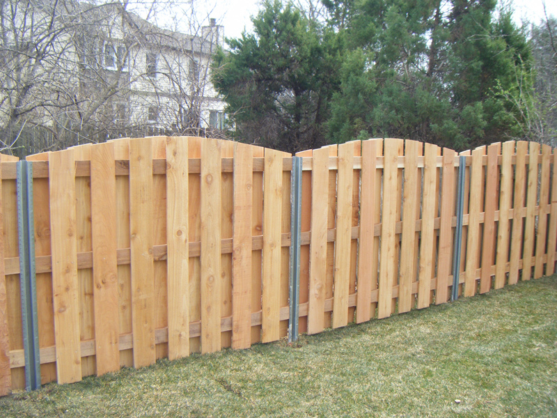 Image of: Patio Metal Fence Posts