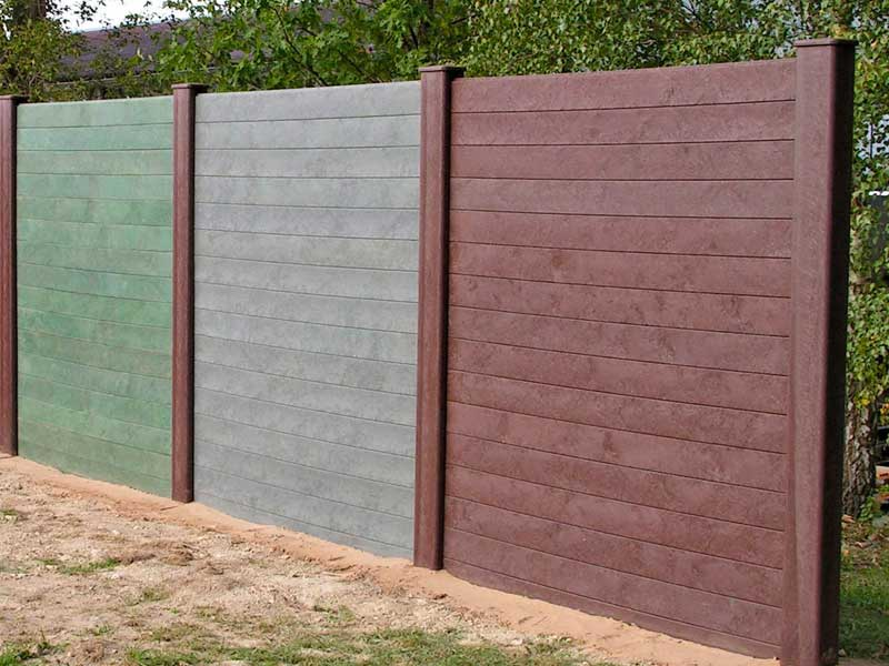 Image of: Plastic Fence Panel
