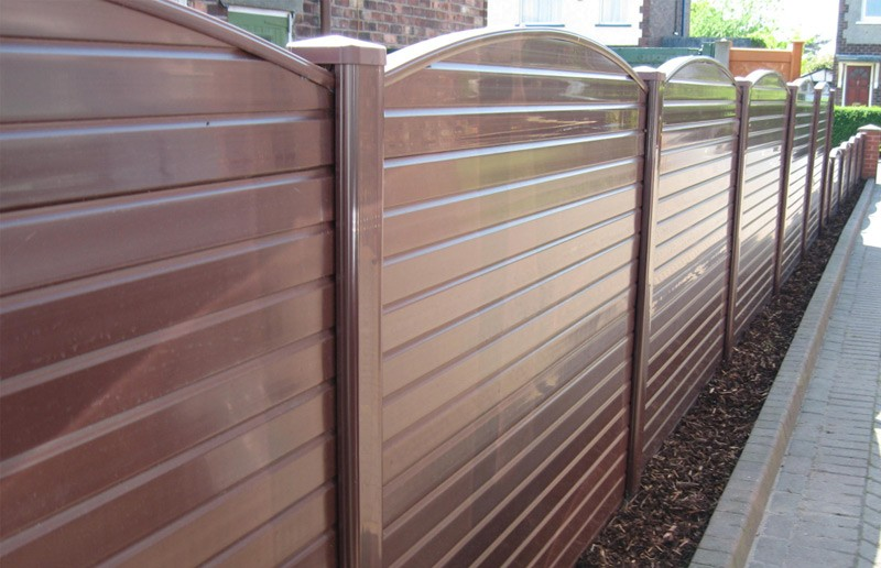 Image of: Plastic Fence Panels Brown