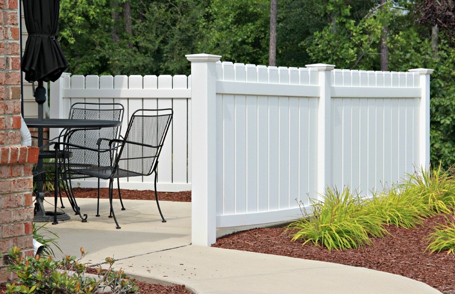 Image of: Plastic Fence Panels Colors