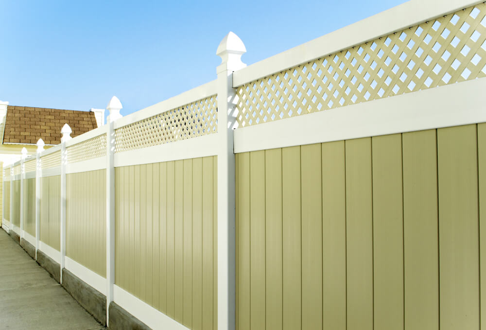 Image of: Plastic Fence Panels Designs