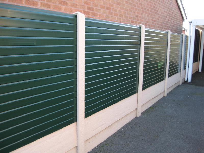Image of: Plastic Fence Panels Green