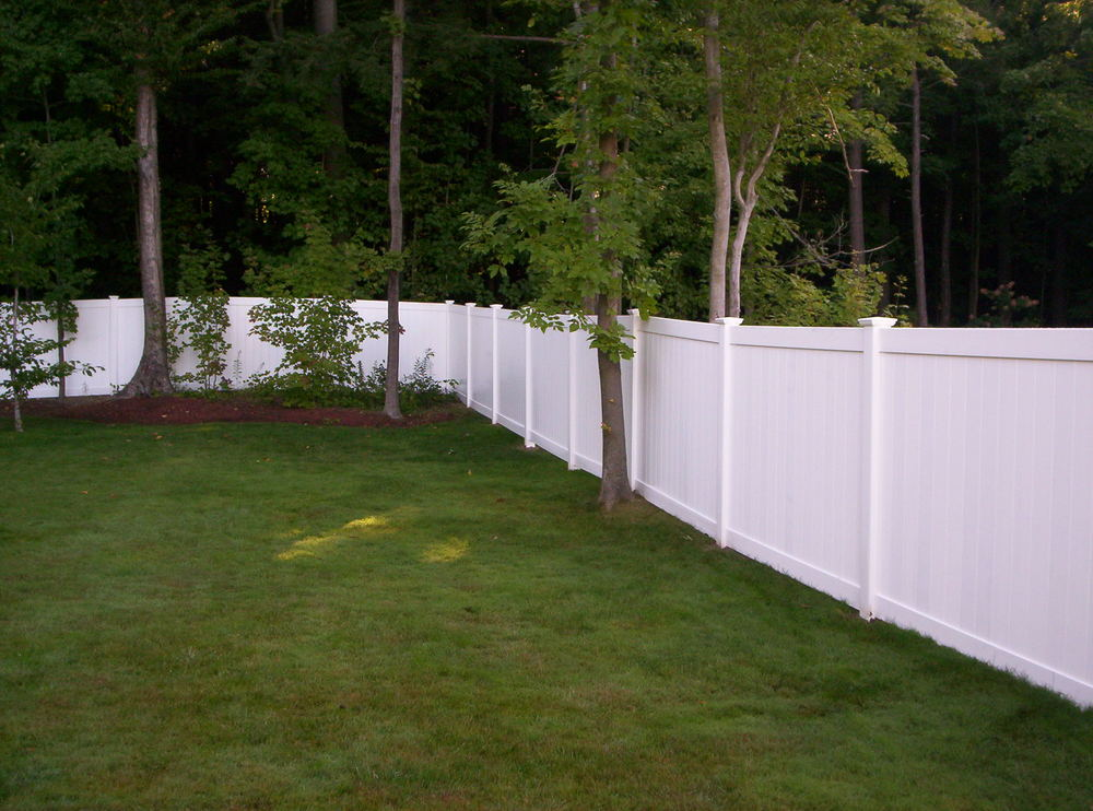 Image of: Plastic Fence Panels Vinyl
