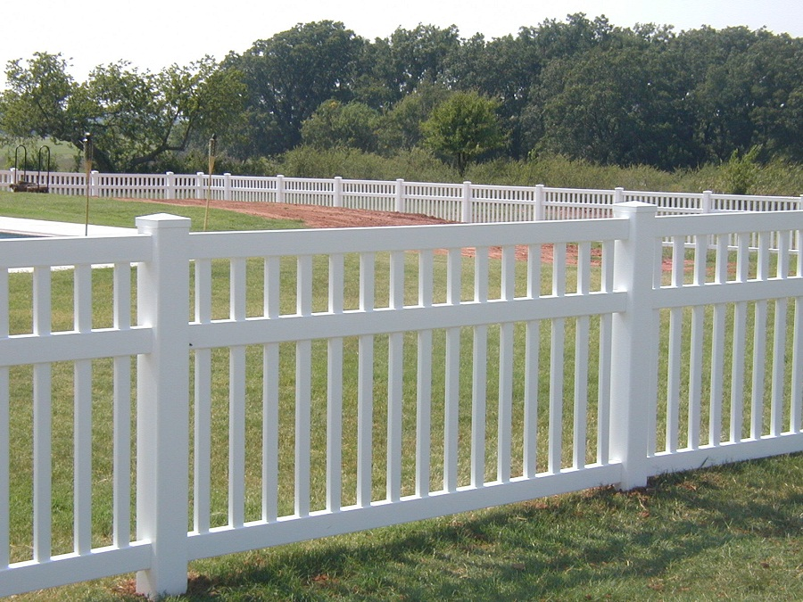 Image of: Plastic Fence Panels White