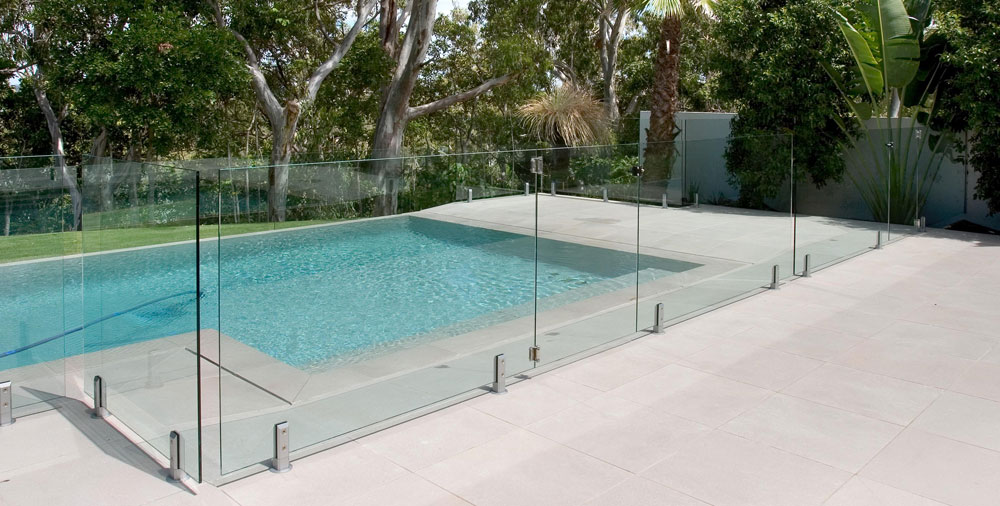 Image of: Pool Fence Glass