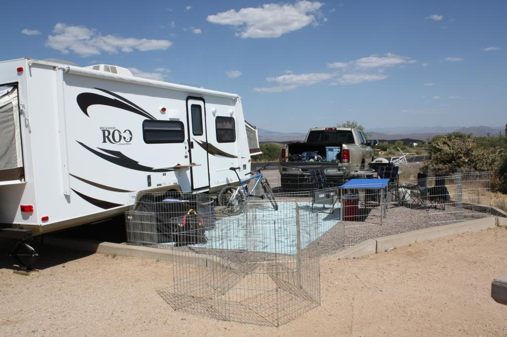 Image of: Portable Dog Fence Install
