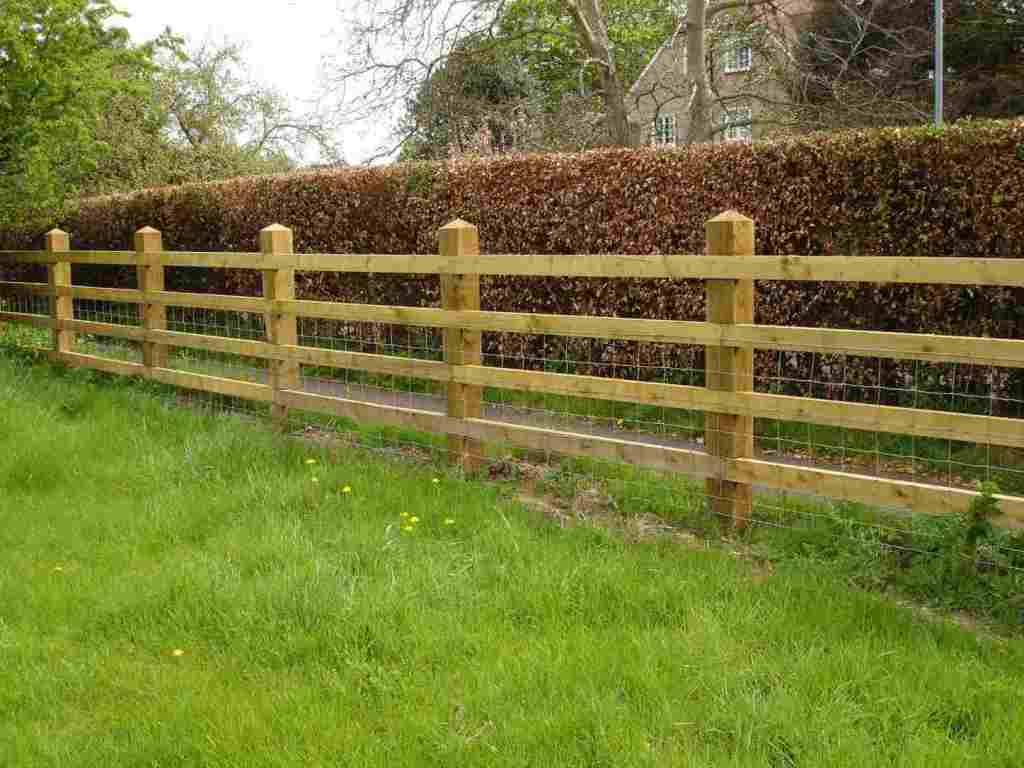 Post and Rail Fence Gate