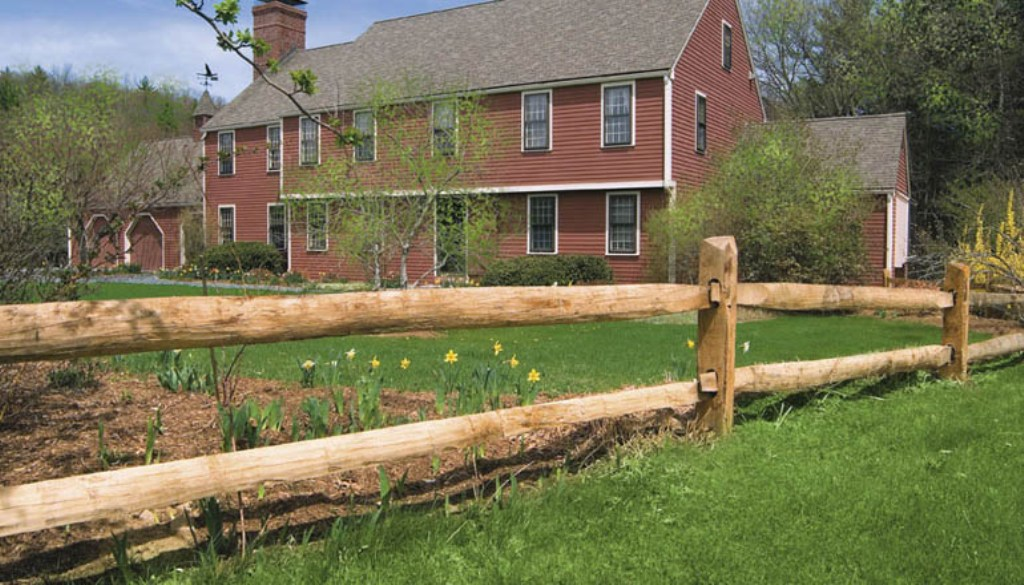 Image of: Post and Rail Fence Installation