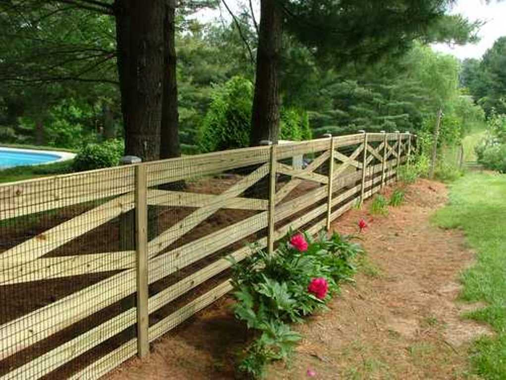 Image of: Post and Rail Fence Photos