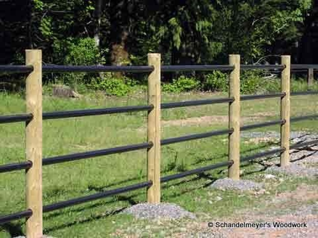 Image of: Post and Rail Fence Plans