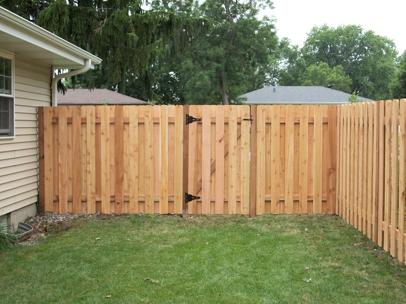 Image of: Privacy Fence Ideas Wood