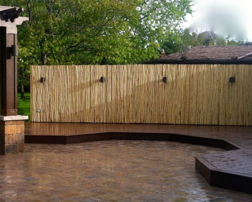 Image of: Privacy Fence Screen Bamboo
