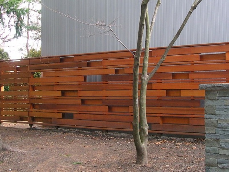 Image of: Privacy Horizontal Wood Fence