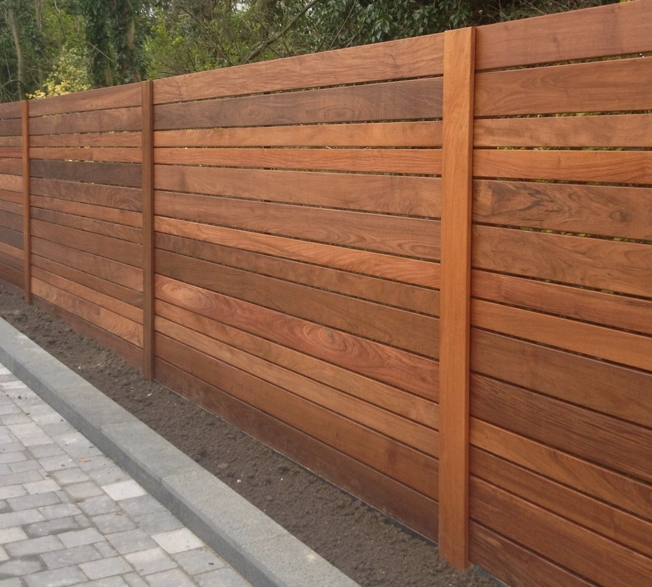 Image of: Red Cedar Fence Panels