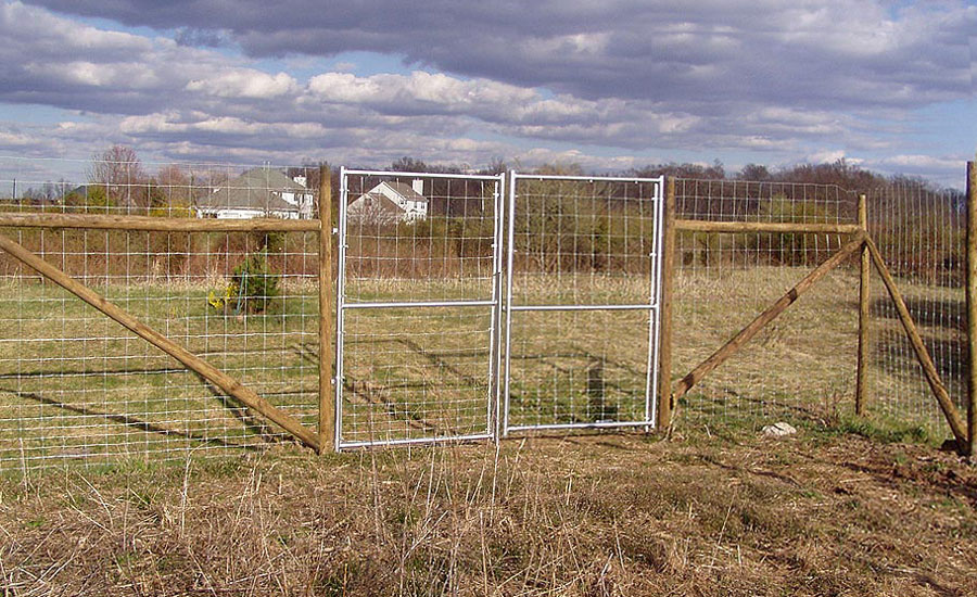 Image of: Simple Deer Fences