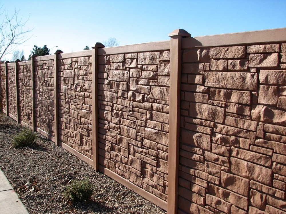 Image of: Stone Composite Fence