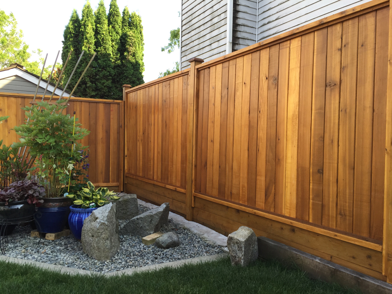 Image of: Top Cedar Fence Panels