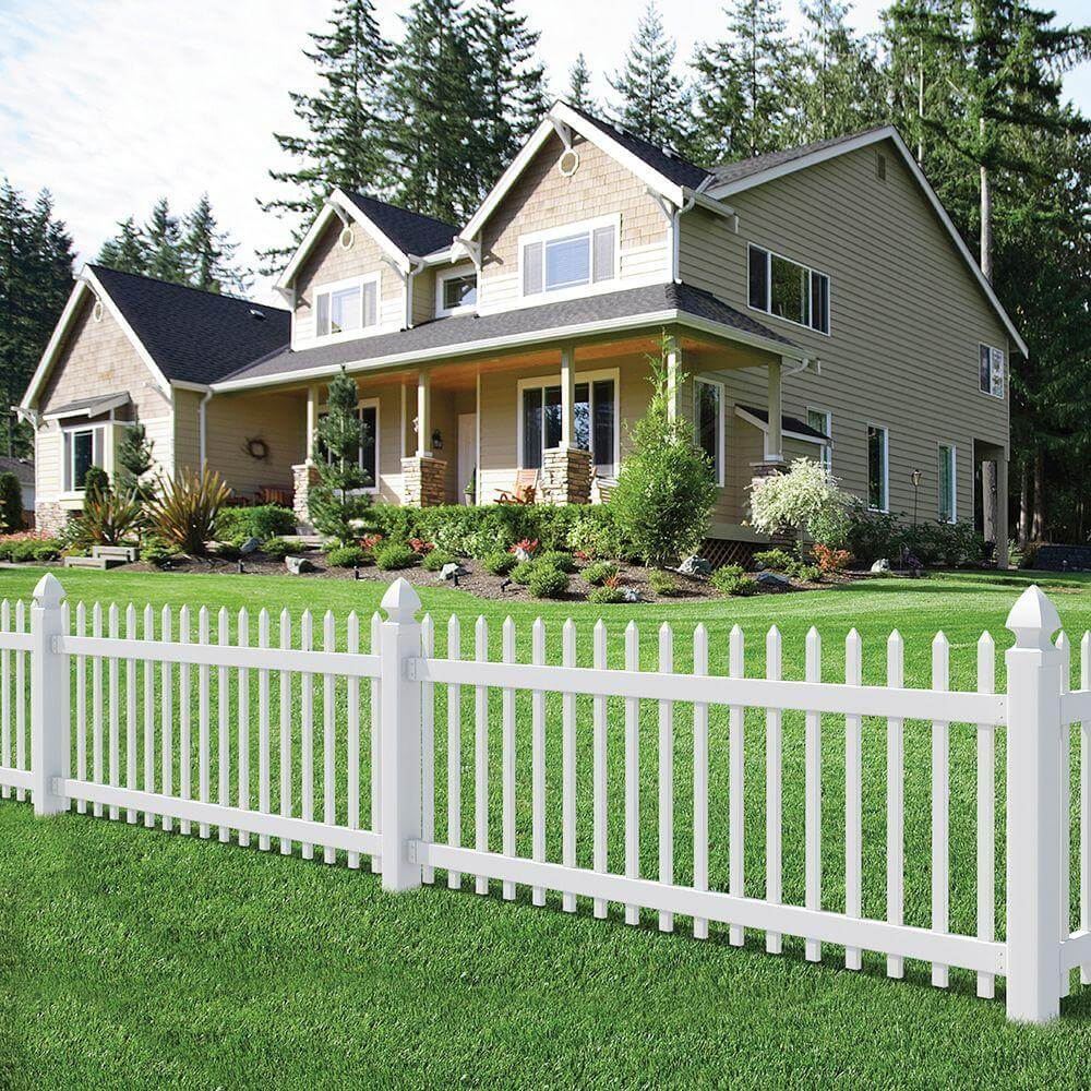 Image of: White Cheap Fencing Ideas