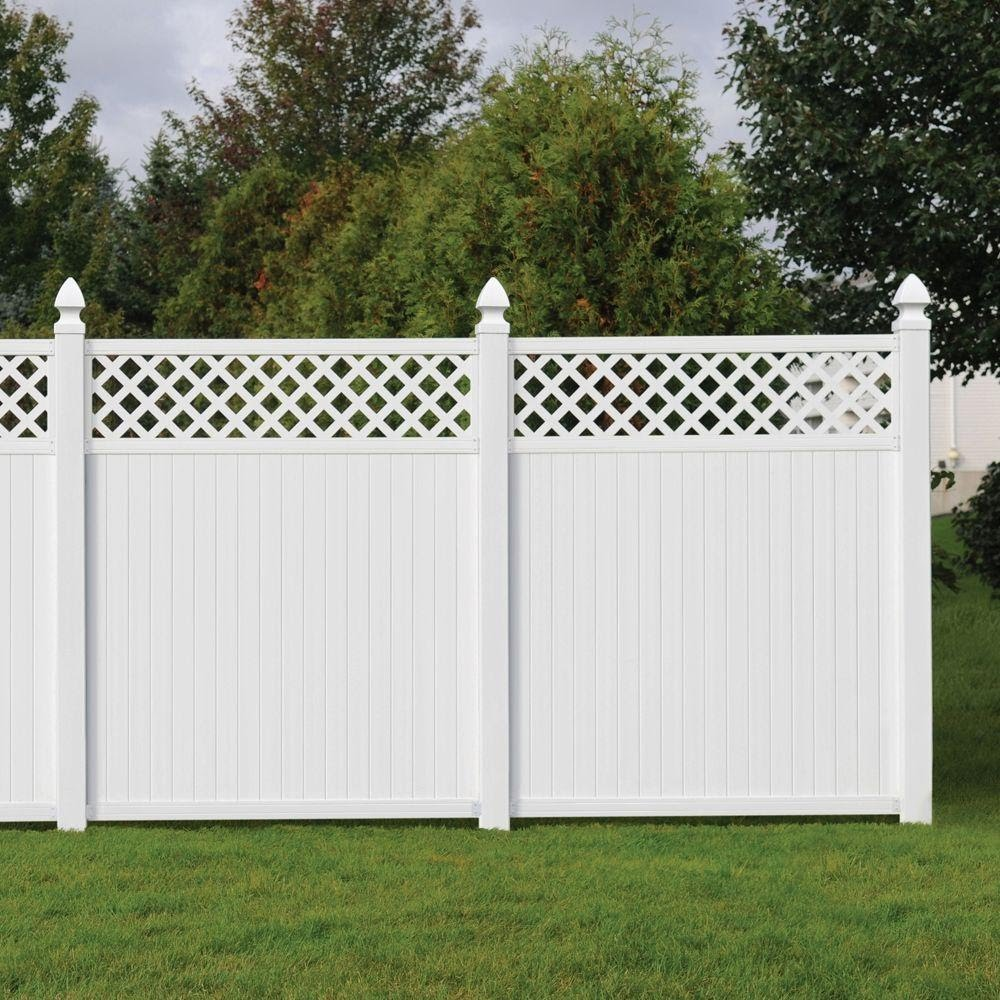 Image of: White Cheap Privacy Fence