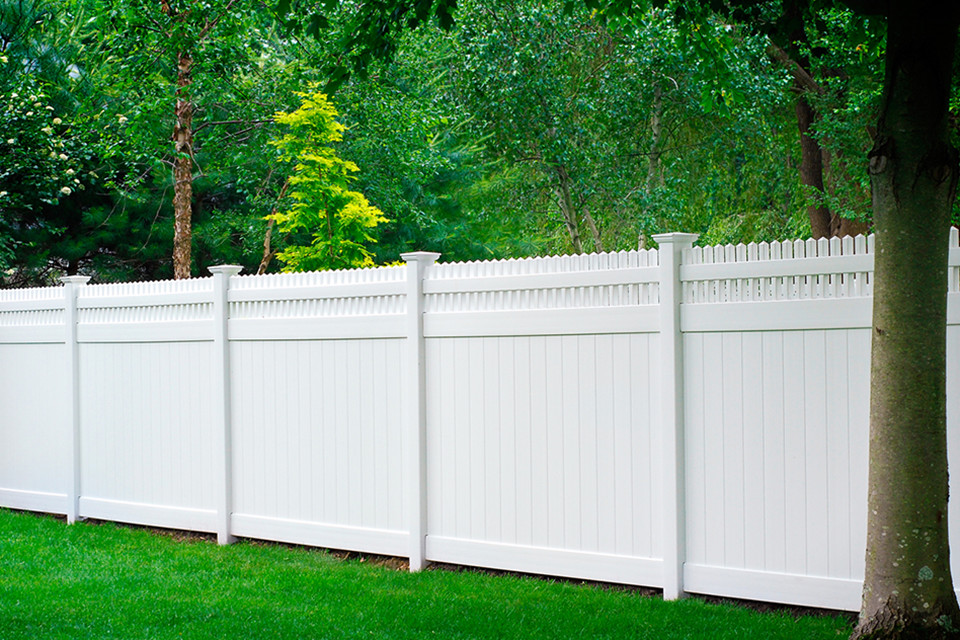 White Composite Fencing