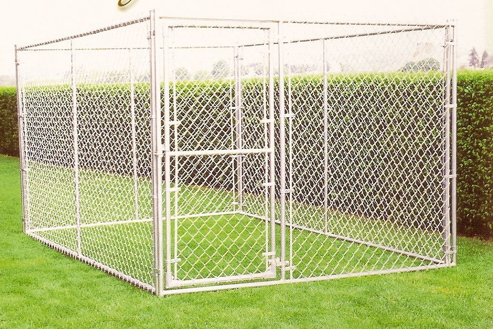 Image of: White Dog Fence Panels