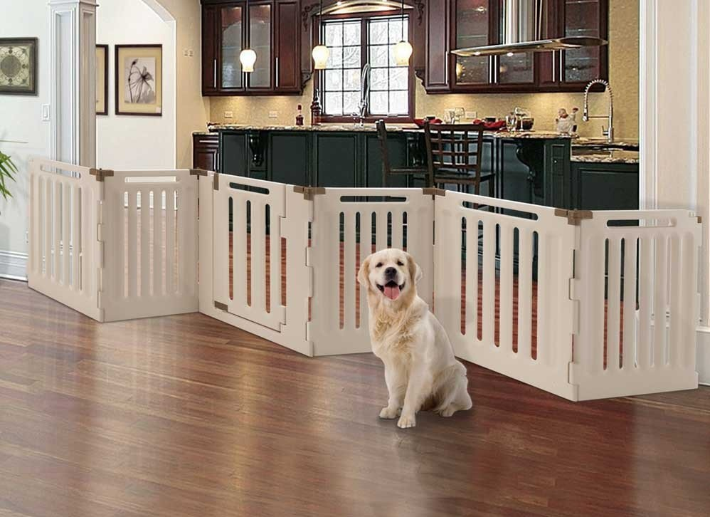 White Indoor Dog Fence