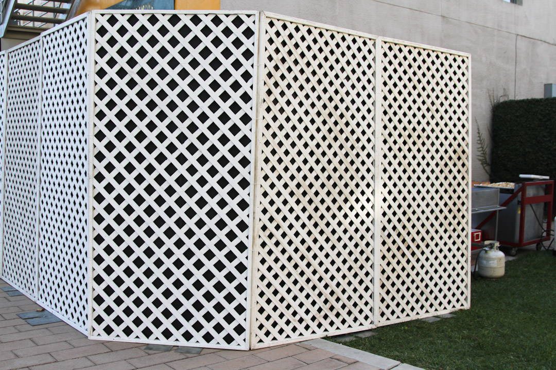 Image of: White Lattice Fence Panels