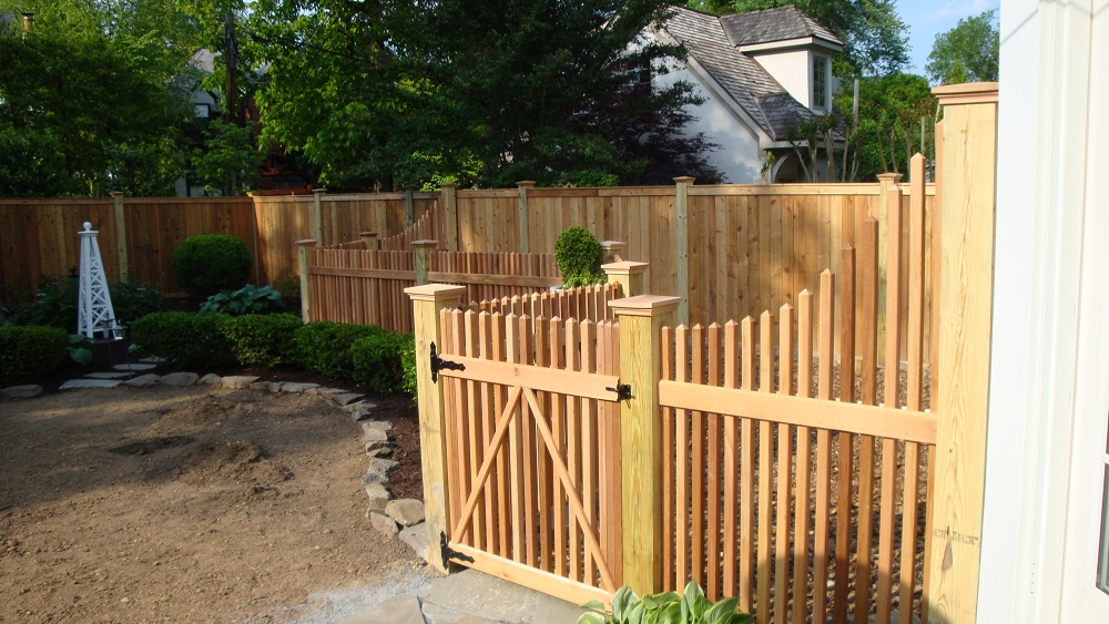 Wood Dog Fence
