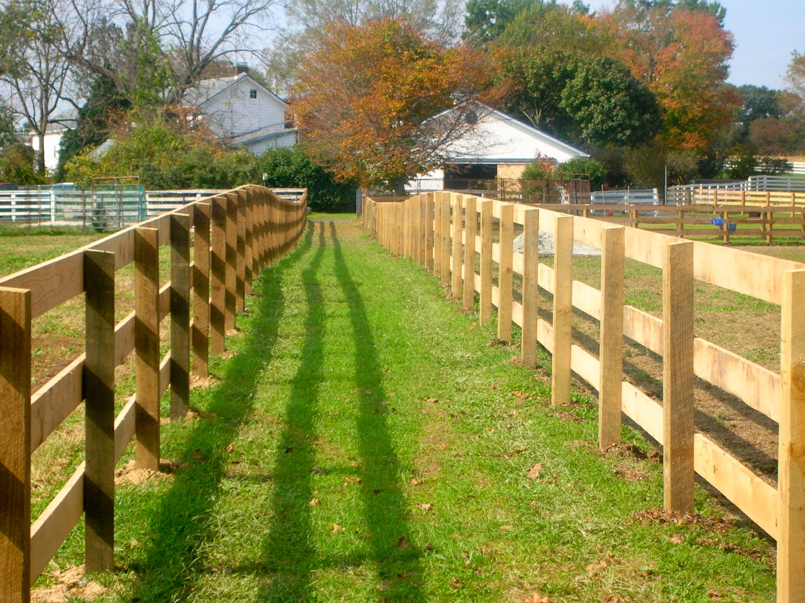 Image of: Wood Horse Fencing
