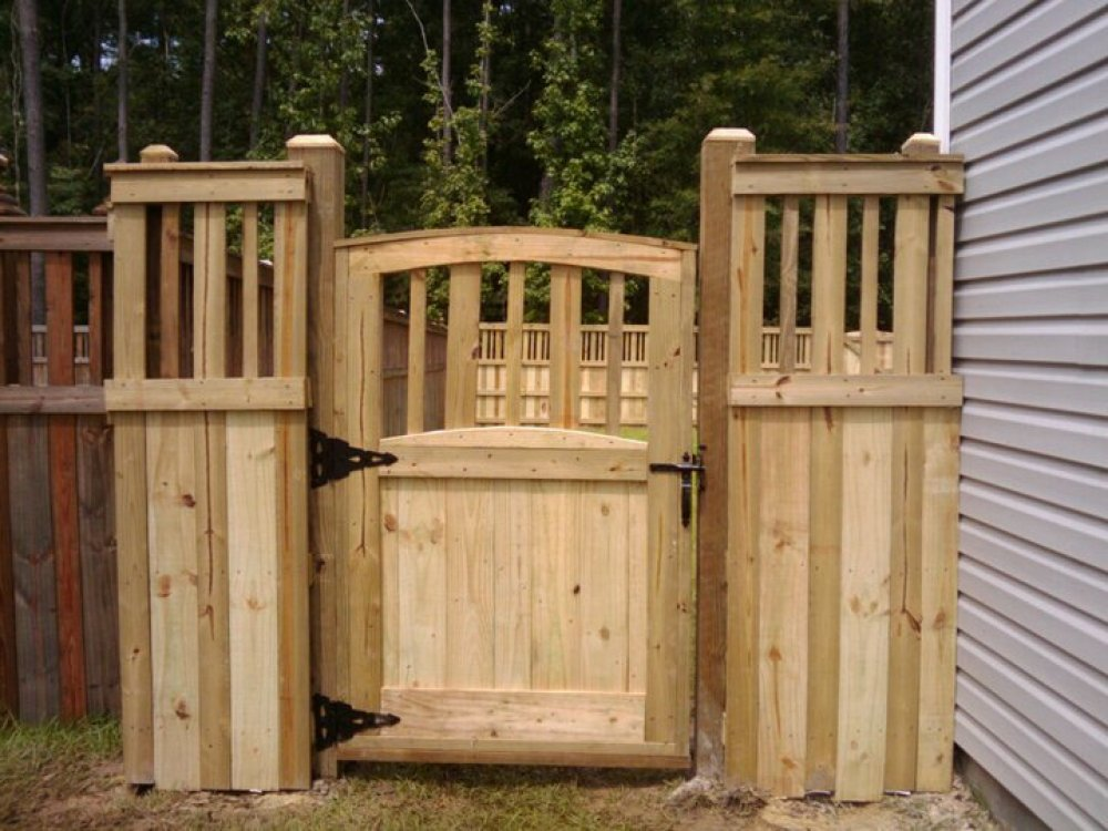 Image of: Wood How To Build A Fence Gate