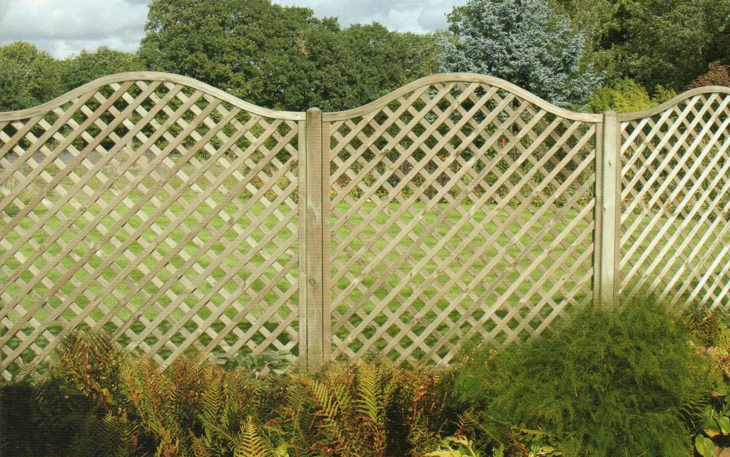 Image of: Wood Lattice Fence Panels