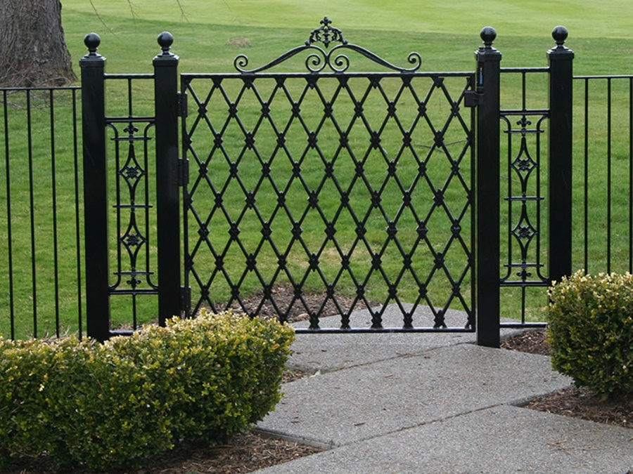 Image of: Wrought Iron Fence