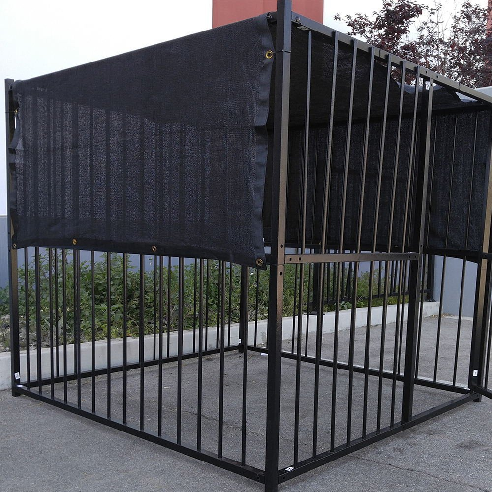 10x10 Dog Kennel Roof Black