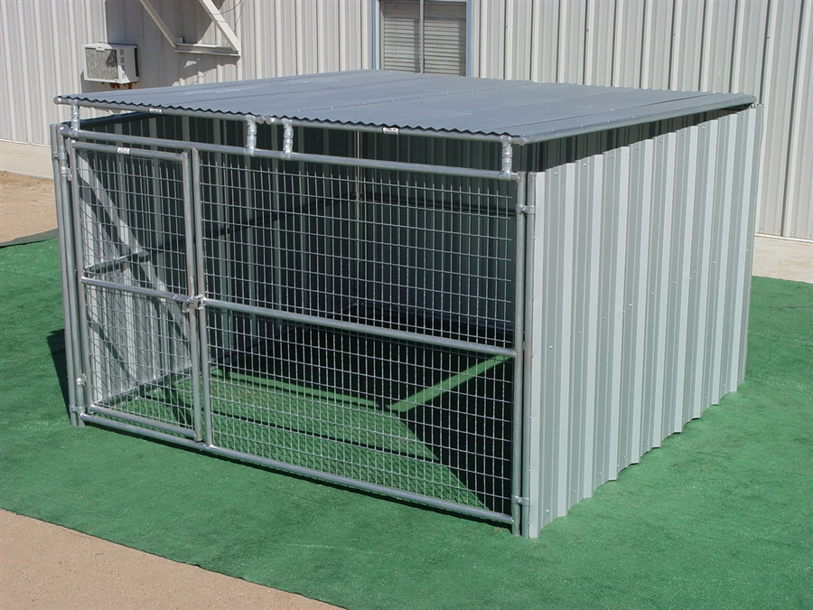 10x10 Dog Kennel Roof Size