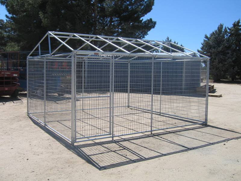 Image of: 10×10 Dog Kennel Roof Style