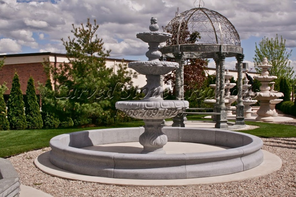 Image of: 3 Tier Fountain Installations