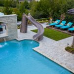 Above Ground Pool Fountain Backyard