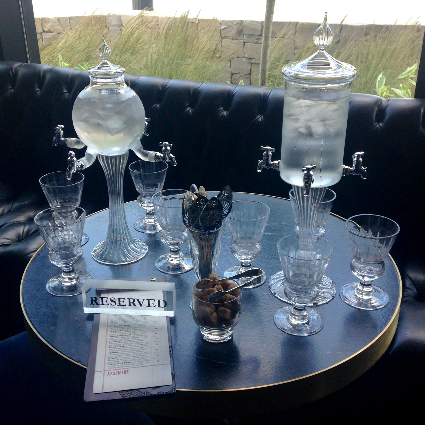 Image of: Absinthe Fountain Table