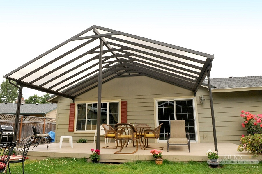 Image of: Aluminum Patio Roof Frame