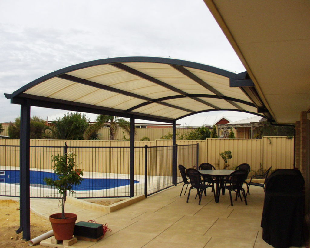 Image of: Aluminum Patio Roof Shapes