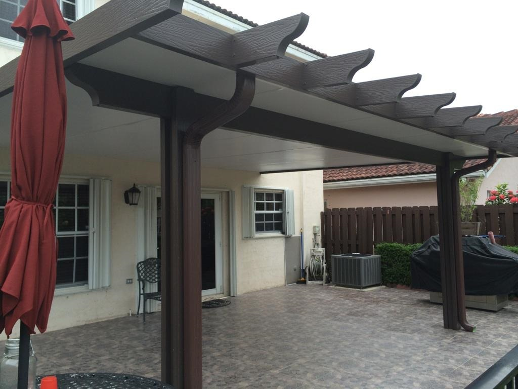 Image of: Aluminum Patio Roof Type