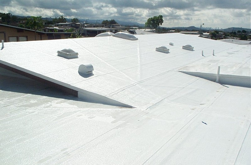 Image of: Aluminum Roof Coating Application Temperature Designs Ideas