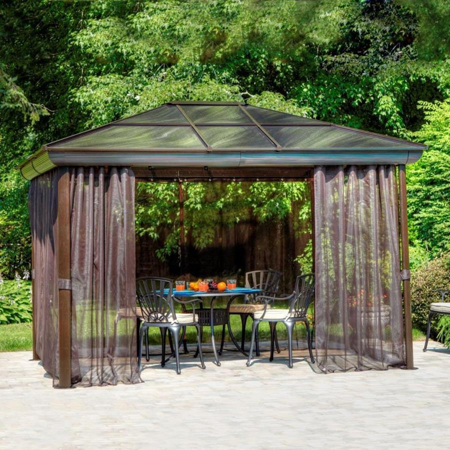 Image of: Aluminum Roof Gazebo Backyard