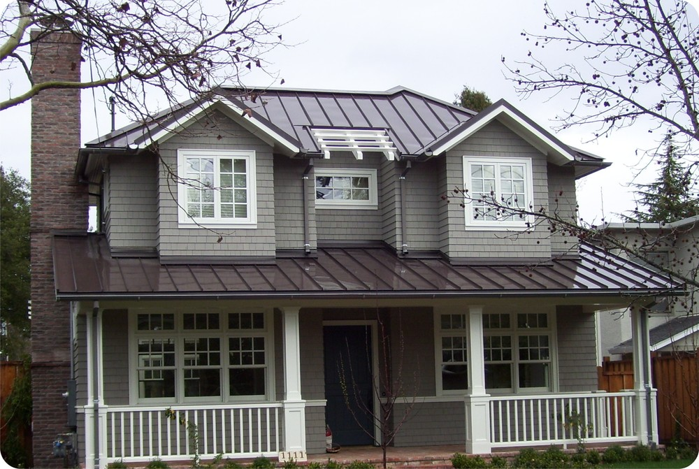 Amazing Charcoal Gray Metal Roof