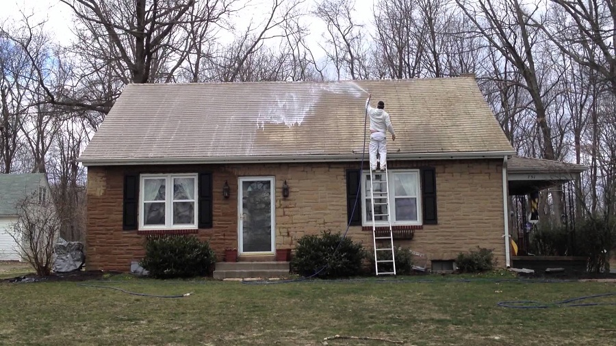 Image of: Asbestos Roof Shingles Cleaning
