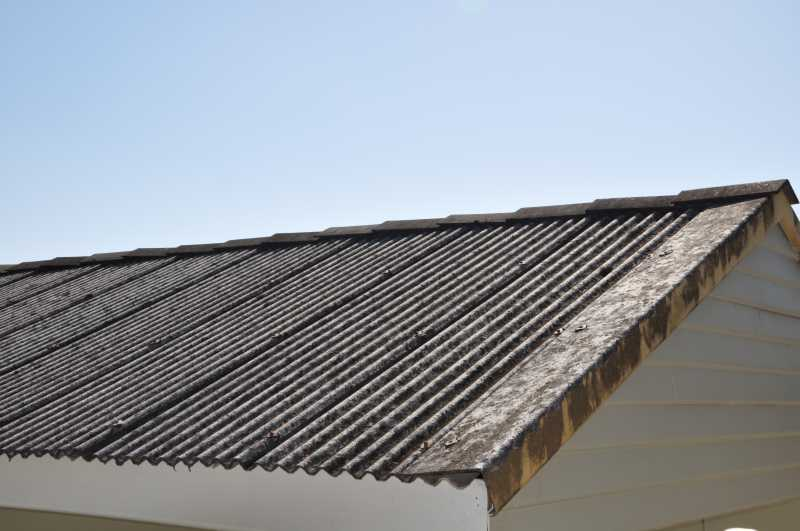 Image of: Asbestos Roof Shingles Install