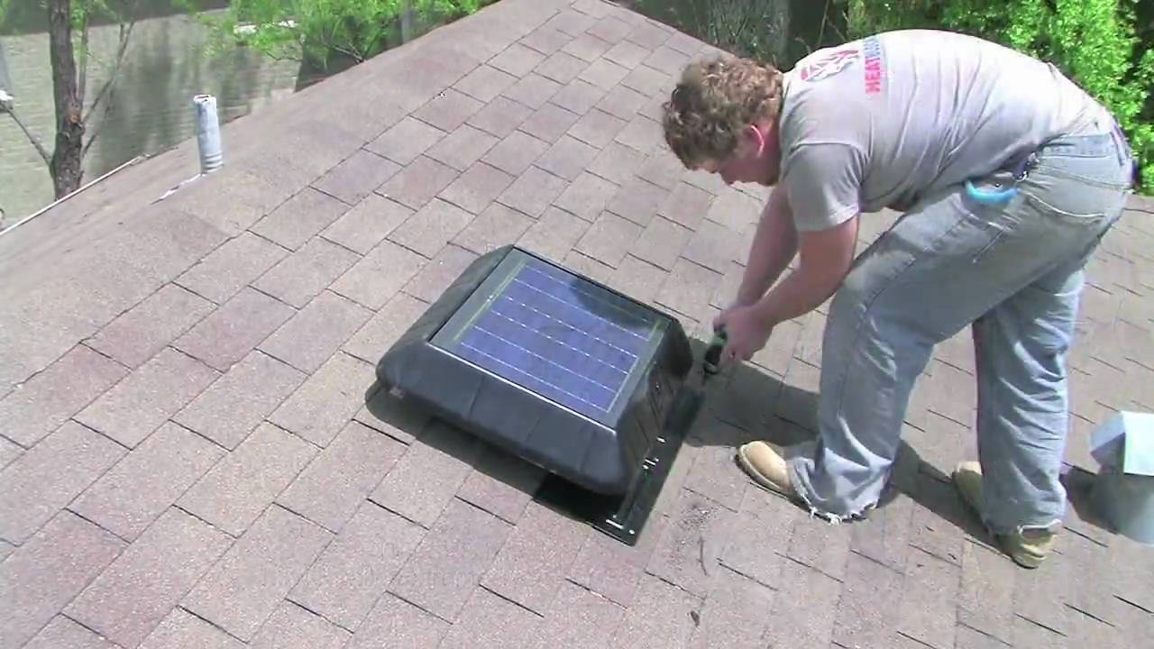 Image of: Attic Roof Vents Install